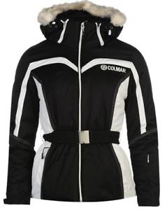 Colmar E4MC Ski Jacket Coat Womens Ladies Black White UK Size 8 XS *REF89