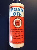 SURE LIFE  FOAM OFF 8 0Z.  BOTTLE HARMFUL SURFACE FOAM REMOVER SL131 Brand New