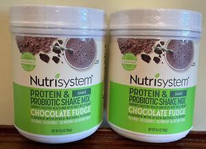 💕2 Nutrisystem Chocolate Fudge Probiotic Shake BB 9/7/22 POWERFUEL SNACK