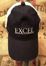 RARE Excel Mesh Back Snapback Hat Trucker Ball Cap, Baseball, Navy Blue, VG.