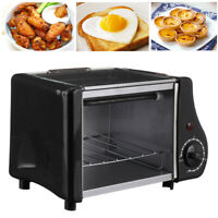 Toaster Electric Oven Black Air Fryer Convection Countertop Stainless Steel