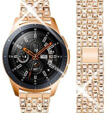 24K Rose Gold Plated 46MM Samsung Galaxy Watch with Rose Gold Diamonds Link Band