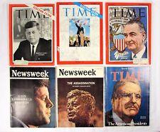 1960's Time & Newsweek Magazines – Presidents John F. Kennedy & L. B. Johnson