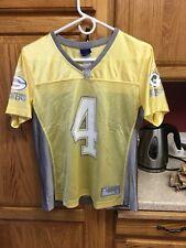 569a7d7a3 Reebok Green Bay Packers Brett Favre Ladies Yellow   Gray Alternate NFL  Jersey M