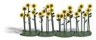 Busch 1240 4 Sunflower Plants Preassembled HO Gauge