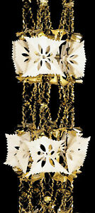 Large Gold & Ivory pull out foil Christmas Garland Decoration 8 sections - 2.7m