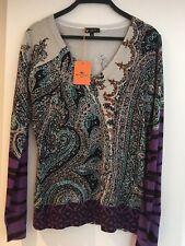 ETRO Ladies Sweater Silk/cashmere Size 44. BNWT. UK Size 12