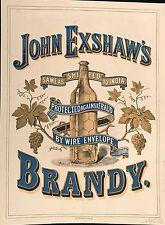 JOHN EXSHAW'S BRANDY  AU DOS : J&F MARTELL COGNAC AND OLD BRANDY 1875