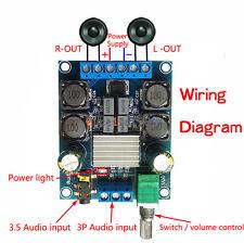 TPA3116 D2 50W+50W Dual Channel DC4.5-27V Digital Power Amplifier 50Wx2 Stereo