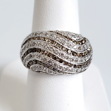 Levian 14K White Gold Chocolate and White Diamond Ring