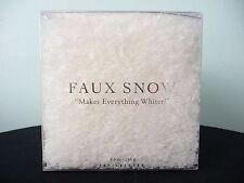Pottery Barn Box of Faux Snow ~ Christmas Snow Flakes 5.5 oz./155 g