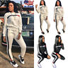 2Pcs Women Hoodies Sports Tops Pants Tracksuit Sweatshirt Sweat Suit Jogging Set