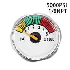 5000 Psi Mini Micro Paintball Air Co2 Tank Pressure Gauge 1/8Npt Threads Gl