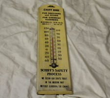Antique Advertising Thermometer for Fur Dyers & Garment Cleaners -Chiff Bro