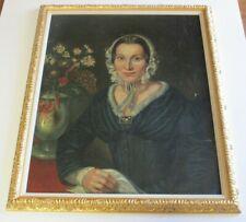 19TH CENTURY PAINTING  WOMAN ORIGINAL PRETTY FEMALE MODEL  ANTIQUE ESTATE ART