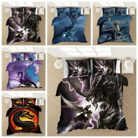 3D Flying Alien Dragon Animal Bedding Set Duvet Cover Pillowcase Comforter Cover