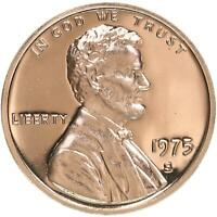 1975 S Lincoln Memorial Cent Gem Cameo Proof Penny