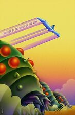 Kaz Oomori Nausicaa of the valley of the wind Hayao Miyazaki giclee poster print