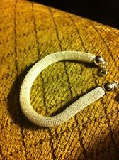 """Sterling Silver Bracelet, Mesh, 7.5"""". New, With Lobster Claw Clasp."""