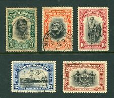 Old Malaya North Borneo  selection of 5 x  stamps to $2 Used