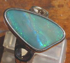 Semi Black Opal 4 Karat 950er Silberring Größe 19,1 mm