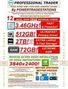DELL Trading Computer 6Monitor XeonMaxTurbo3.46GHz 512GBSSD 2TBHDD 72GBRAM W10P