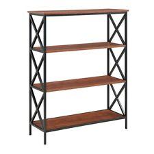 Convenience Concepts Tucson 4 Tier Bookcase, Black/Cherry - 161844