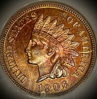 1906, 1C INDIAN HEAD CENT, NGC PR 64 RB,  ABSOLUTELY BEAUTIFUL