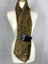 Golden Leopard Faux Fur Infinity Scarf With Zipper Hidden Pocket Scarf