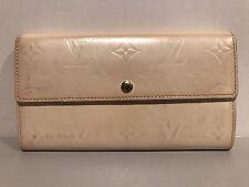 Authentic Louis Vuitton Vernis Sarah Long Wallet White 6 Credit Card Slots RARE!