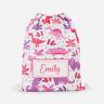 Personalised Girls Dinosaur Kids PE Swimming School Children's Drawstring Bag