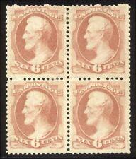 U.S. #159 SCARCE Mint BLOCK - 6c Rose ($2,250)