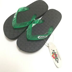 Locals Flip Flops Kids Shoes Green Surfer Hawaiian Boys Beach Size 3 (Local 8 )