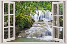 Huge Window Wall sticker Waterfall Wallpaper Forest Mural Vinyl Decor 3d Mural A