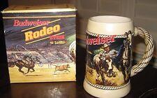 """Budweiser 1992 """"Rodeo"""" Stein #Cs184 ~ Serial #21440"""