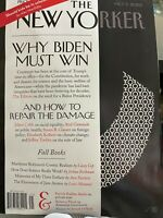 The new yorker magazine Oct 5 2020. WHY BIDEN MUST WIN AND HOW TO REPAIR THE...