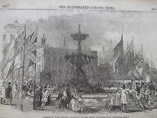 Stampa ANTICO DATATO 1846 il ILLUSTRATO London News Brighton Victoria FONTANA