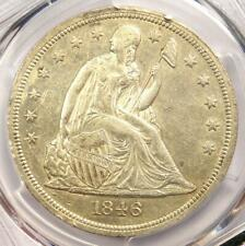 1846-O Seated Liberty Silver Dollar $1 Coin with Mint Error - PCGS AU Details