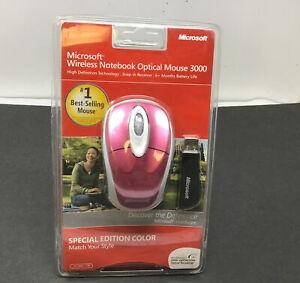 NEW SEALED Microsoft Wireless Notebook Optical Mouse 3000 PC Windows & Mac