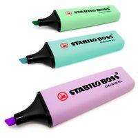 3 x Stabilo Chef Original Pastel Textmarker Markierer - Minze, türkis und lila