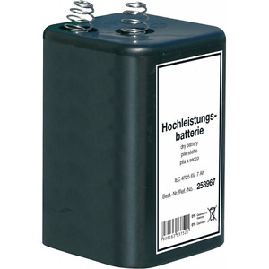 Blockbatterie IEC4R25 6V/7Ah Quecksilberfrei