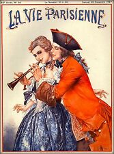1927 La Vie Parisienne Play the Horn French France Travel Advertisemnt Poster