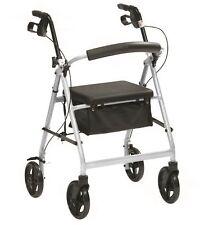 Ultra Lightweight Rollator Wheeled Walking Aid Frame 4 Wheel Mobility Walker