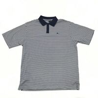 ROCAWEAR Striped Polo Shirt Adult XXL 2XL Baggy Oversized Fit Blue Cotton 2X