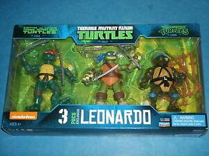 Teenage Mutant Ninja Turtles 'LEONARDO' 3-Pack Exclusive Set (Eastman & Laird's)