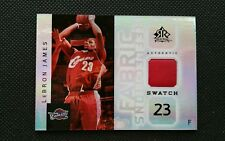 LeBRON JAMES 2005-06 UPPER DECK REFLECTIONS JERSEY FABRIC SWATCH SP! CAVALIERS!