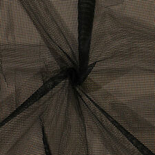 """Soft Polyester Black Mesh 1/8"""" Holes 52"""" Wide Fabric by the Yard D183.04"""
