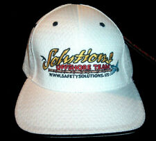 New ~ SOLUTIONS OFFSHORE TEAM ~ Flexfit ~ One Size Mens Cap Hat ~ White Stretch