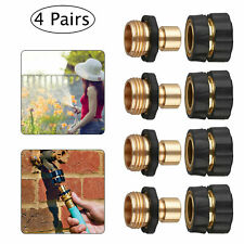 4 Pairs Universal Garden Hose Quick Connect Set Pipe Hose Tap Adapter Connector