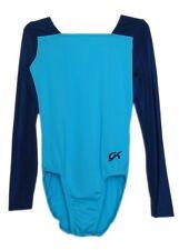 GK Elite Navy/Light Blue Gymnastics Leotard - AS Adult Small 4168